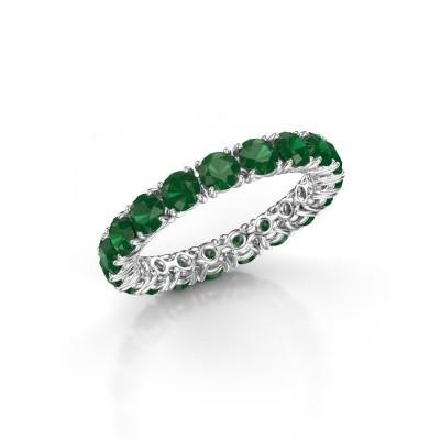 Foto van Aanschuifring Vivienne 3.4 950 platina smaragd 3.4 mm