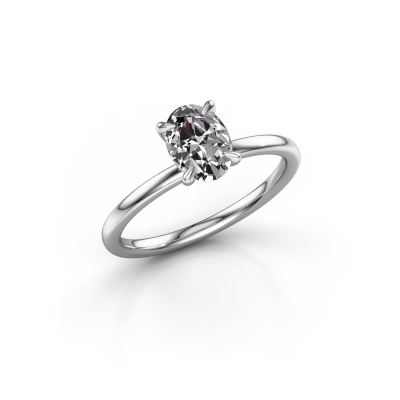 Picture of Engagement ring Crystal OVL 1 950 platinum diamond 1.00 crt