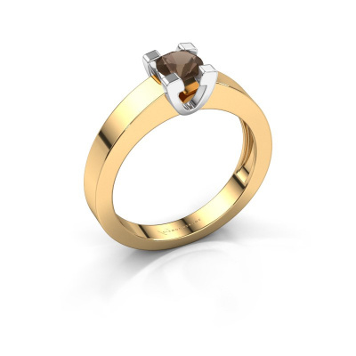 Promise ring Anne 1 585 goud rookkwarts 4.7 mm