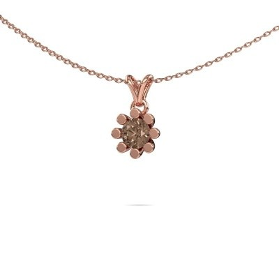 Foto van Hanger Carola 1 375 rosé goud bruine diamant 0.50 crt