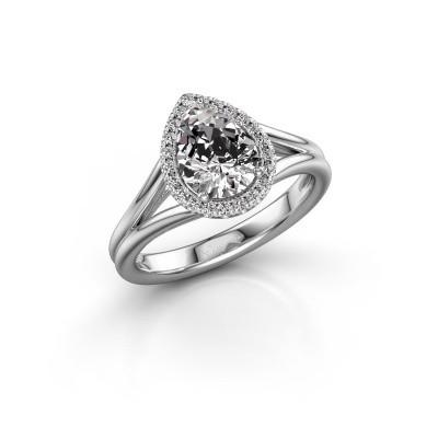 Verlobungsring Verla pear 1 925 Silber Lab-grown Diamant 1.097 crt