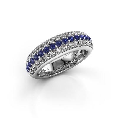Foto van Ring Emely 8 925 zilver saffier 1.9 mm