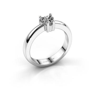 Foto van Aanzoeksring Florentina heart 585 witgoud diamant 0.50 crt