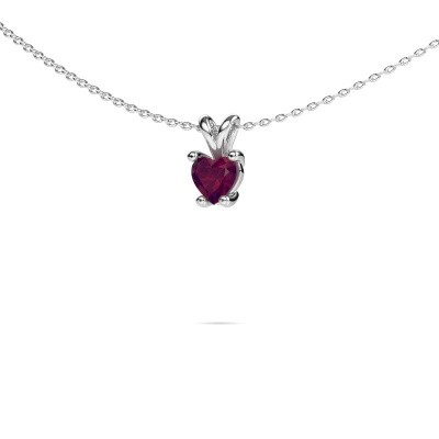 Picture of Necklace Sam Heart 925 silver rhodolite 5 mm
