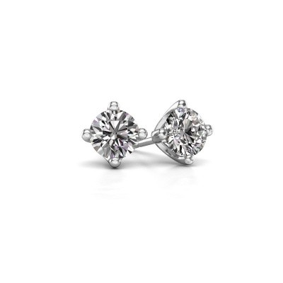 Picture of Stud earrings Briana 585 white gold diamond 0.20 crt
