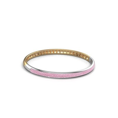Foto van Armband Emely 5mm 585 goud roze saffier 1.1 mm
