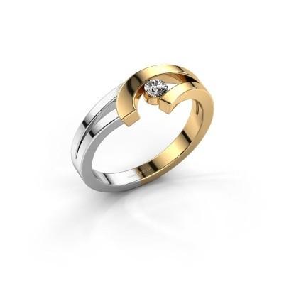 Ring Yentl 585 goud zirkonia 3 mm