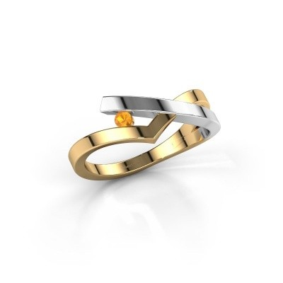 Ring Pamella 585 goud citrien 2.2 mm