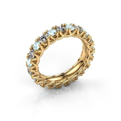 Picture of Ring Fenna 375 gold zirconia 3 mm