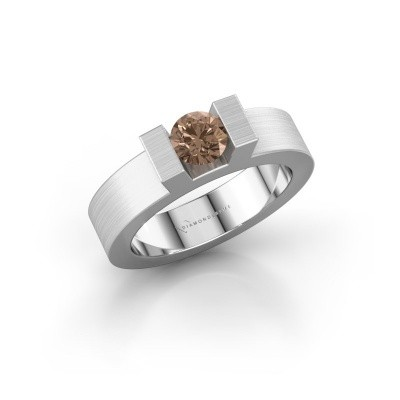 Foto van Ring Leena 1 925 zilver bruine diamant 0.50 crt