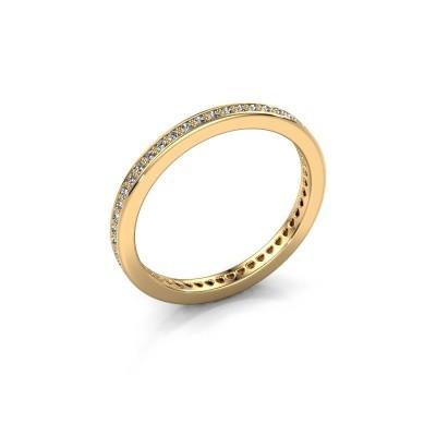 Aanschuifring Elvire 1 585 goud zirkonia 1.1 mm