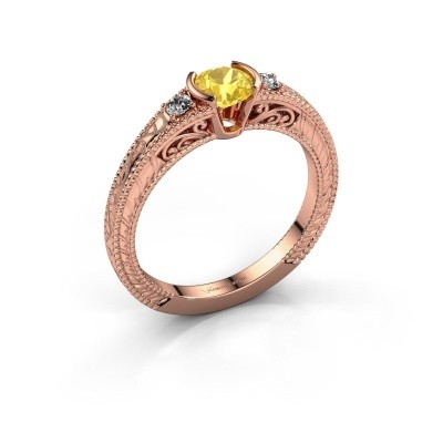 Picture of Engagement ring Anamaria 375 rose gold yellow sapphire 5 mm