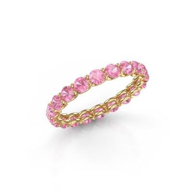 Foto van Ring Kirsten 2.9 375 goud roze saffier 2.9 mm