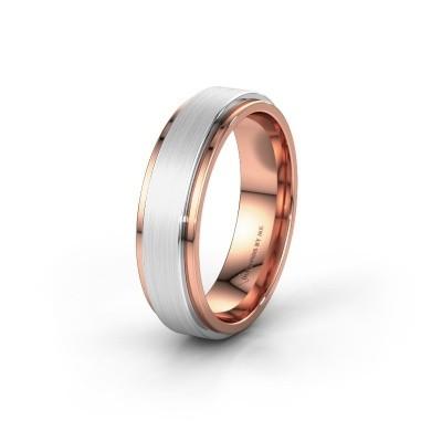 Wedding ring WH2134M 585 rose gold ±6x2.2 mm