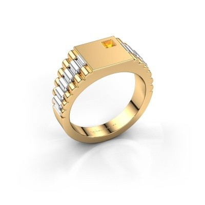 Picture of Men's ring Pelle 585 gold citrin 3 mm