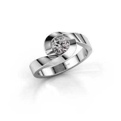 Foto van Ring Sheryl 585 witgoud diamant 0.40 crt