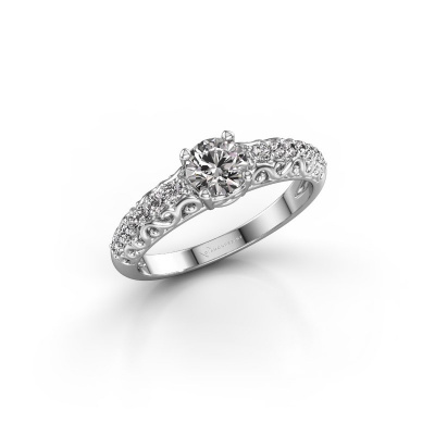 Picture of Engagement ring Mellie 925 silver lab-grown diamond 0.72 crt