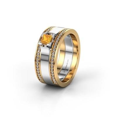 Trouwring WH2121L 585 goud citrien ±8x1.7 mm