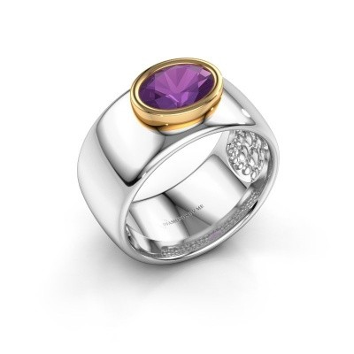 Picture of Ring Anouschka 585 white gold amethyst 8x6 mm