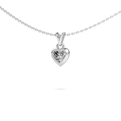 Foto van Hanger Charlotte Heart 375 witgoud diamant 0.50 crt