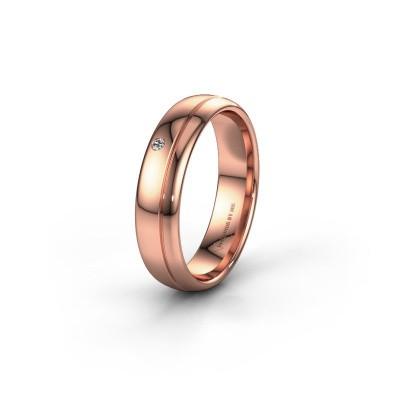 Trouwring WH0301L35AP 585 rosé goud diamant ±5x1.7 mm