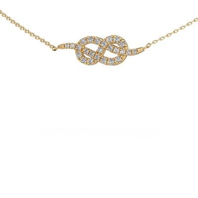 Bar Kette Infinity 1 375 Gold Diamant 0.328 crt