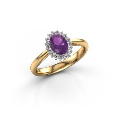Engagement ring Tilly ovl 1 585 gold amethyst 7x5 mm