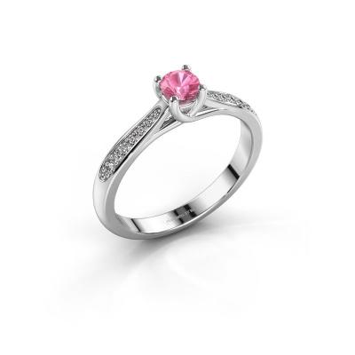 Bild von Verlobungsring{ucf Mia 2 925 Silber Pink Saphir 4.2 mm