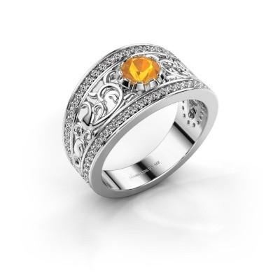 Ring Marilee 950 platina citrien 5 mm