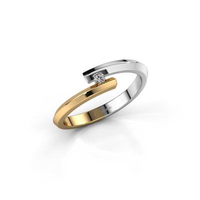Bild von Ring Paulette 585 Weißgold Diamant 0.15 crt