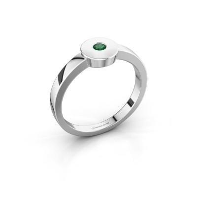 Ring Elisa 585 white gold emerald 3 mm