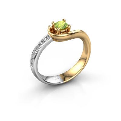 Ring Ceylin 585 goud peridoot 4 mm