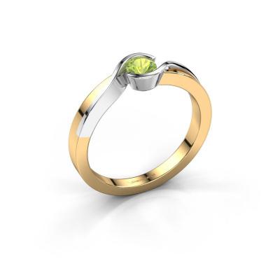 Ring Lola 585 gold peridot 4 mm