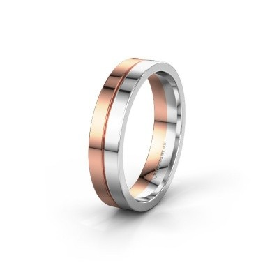 Wedding ring WH0200M15AP 585 rose gold ±0.20x0.07 in