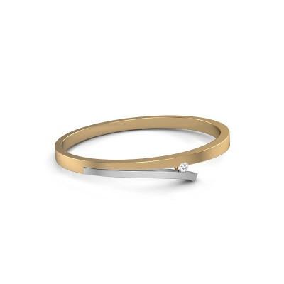 Slavenarmband Rosario 585 goud diamant 0.25 crt