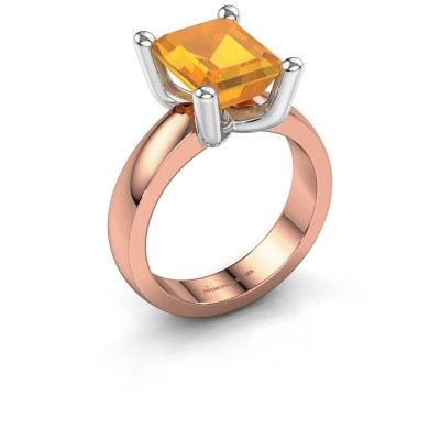 Ring Clelia EME 585 rosé goud citrien 10x8 mm