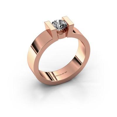 Verlovingsring Lieve 1 375 rosé goud diamant 0.40 crt