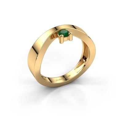 Verlovingsring Elisabeth 585 goud smaragd 3.4 mm