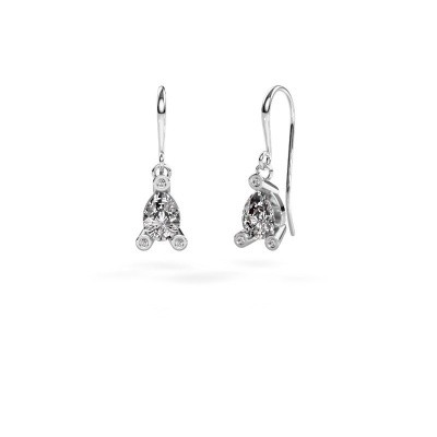 Picture of Drop earrings Bunny 1 950 platinum zirconia 7x5 mm
