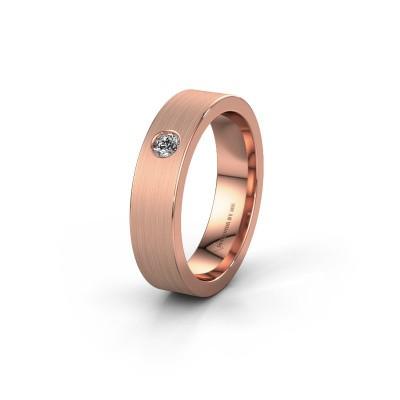 Trouwring WH0101L15BM 375 rosé goud diamant ±5x2 mm