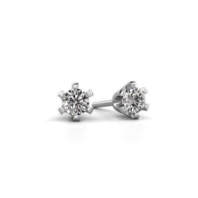 Foto van Oorstekers Shana 585 witgoud lab-grown diamant 0.25 crt