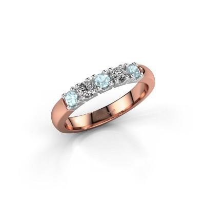 Foto van Ring Rianne 5 585 rosé goud aquamarijn 2.7 mm