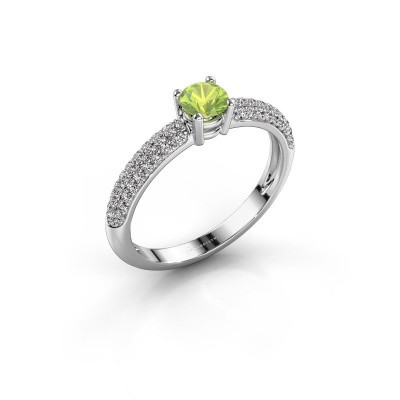 Picture of Ring Marjan 585 white gold peridot 4.2 mm
