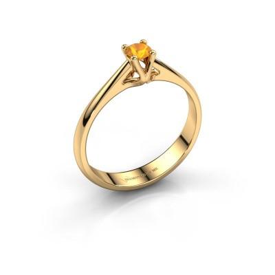 Engagement ring Janna 1 375 gold citrin 3.4 mm