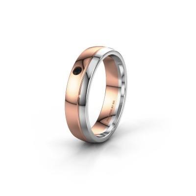 Ehering WH0301L25AP 585 Roségold Schwarz Diamant ±5x1.7 mm