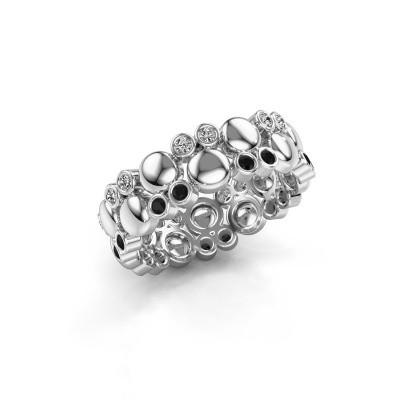Foto van Ring Joanne 925 zilver zwarte diamant 0.370 crt