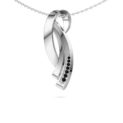 Picture of Necklace Lida 585 white gold black diamond 0.076 crt