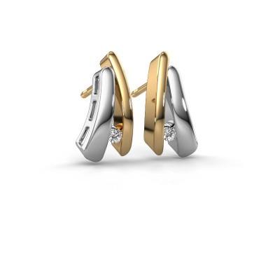Foto van Oorbellen Liesel 585 goud diamant 0.06 crt
