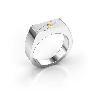 Men's ring Dree 3 925 silver citrin 2 mm