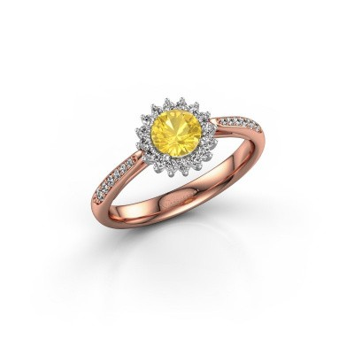 Engagement ring Tilly RND 2 585 rose gold yellow sapphire 5 mm
